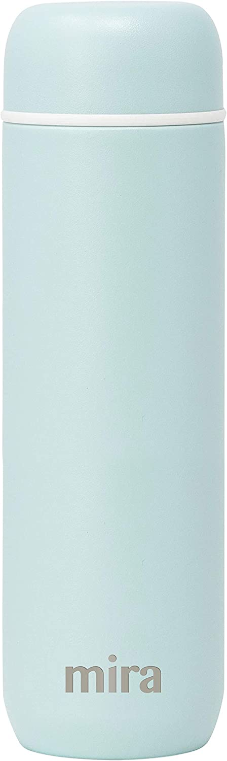 Mira 10 oz Insulated Small Thermos Flask | Kids Vacuum Insulated Water Bottle | Leak Proof & Spill Proof | Lemon Yellow