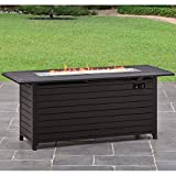 "Better Homes and Gardens Carter Hills, Durable and Rust-Resistant Design 57"" Rectangular Gas Fire Pit, with Stainless Steel Burner (Rectangular, 57)"