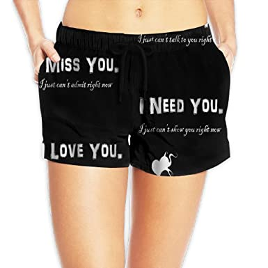 Amazoncom Love Quotes Womens Fashion Surfing Board Shorts Clothing