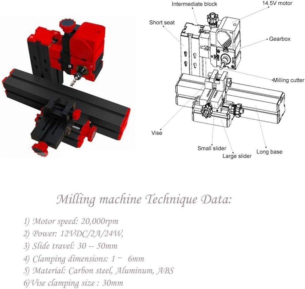 Mini Metal Lathe 20000rpm Metal Chuck Lathe//Didactical DIY Lathe Wood Lathe Drilling Sanding Turning Milling Sawing Machine Tool Kit