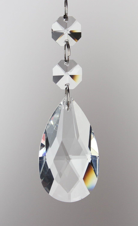 10 Crystal Teardrop Pendant Chandelier Parts Xmas Tree Wedding Accessories