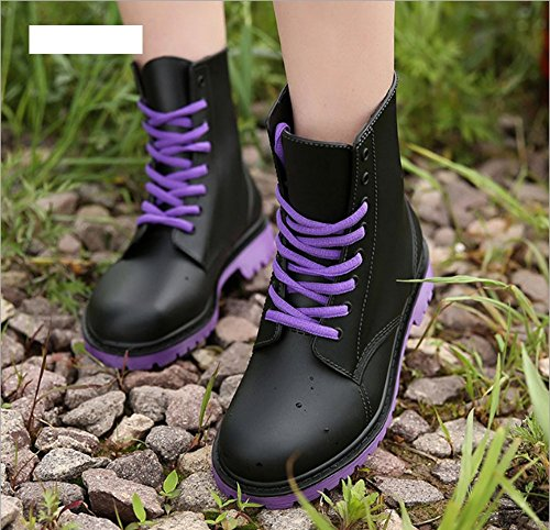 Shoes rain Shoes Purple Ladies Shoes Martin Women's High Water Top Rubber UBqwUzf