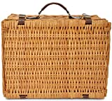 Picnic Basket Set for 4 Person   Insulated Red