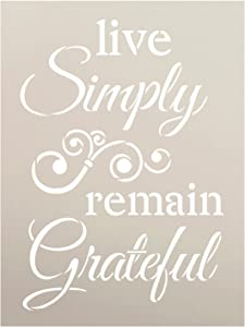 """Live Simply Remain Grateful Stencil by StudioR12 