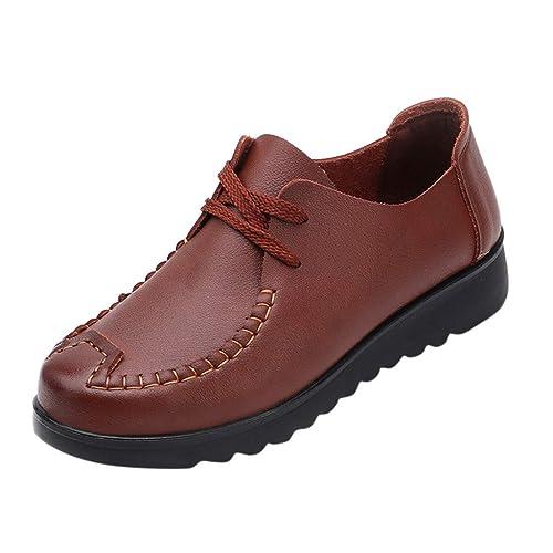 QinMM Mocasines Antideslizantes Planos para Mujer con Punta Redonda Zapatos con Fondo Blando Simple Zapatos: Amazon.es: Zapatos y complementos