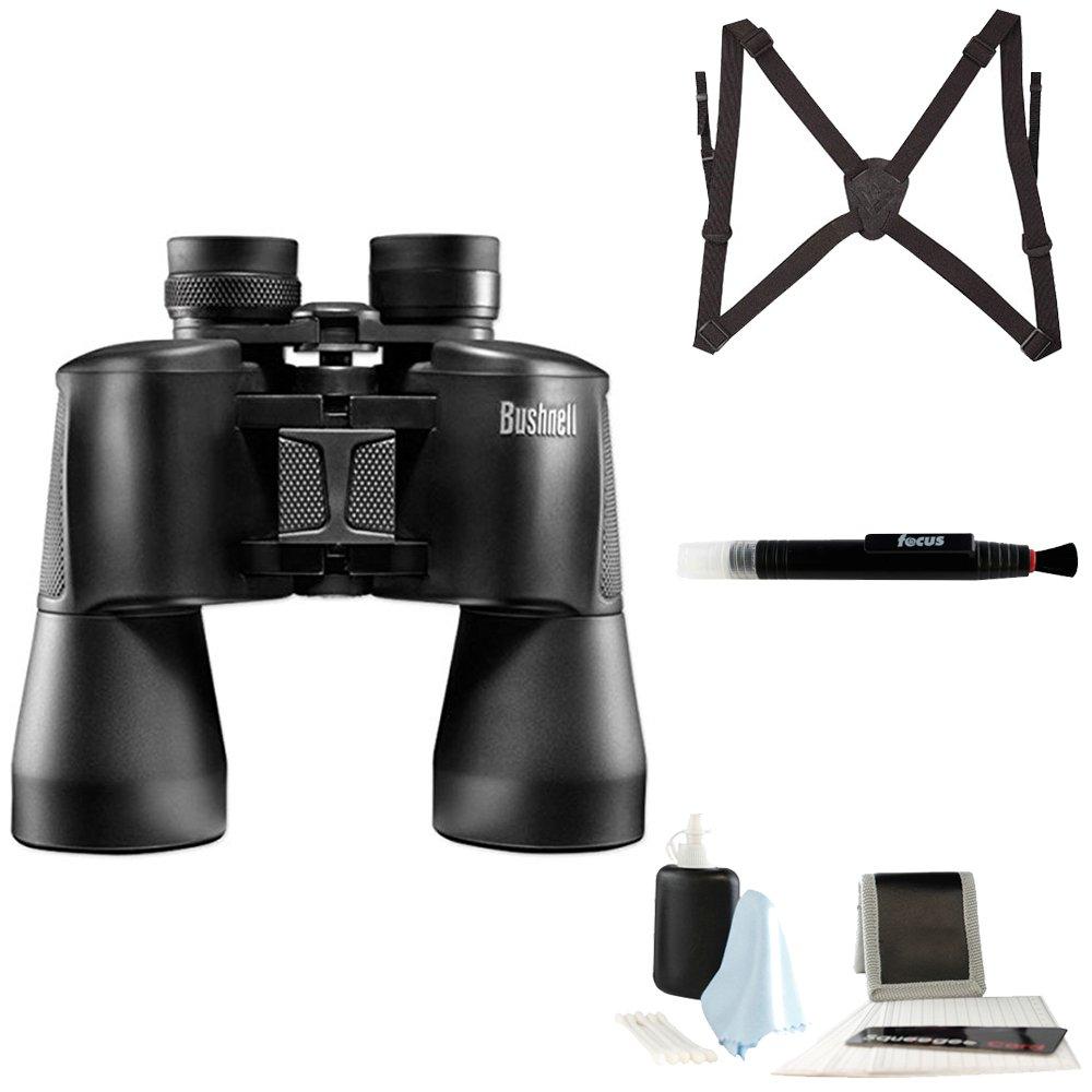 Bushnell 131650 Powerview Porroプリズム双眼W。16 x倍率、50 mmレンズとハーネス+ガラスケアキット B06XHMZ2NZ