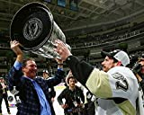 Sidney Crosby Mario Lemieux Pittsburgh Penguins 2016 NHL Stanley Cup Trophy Photo (Size: 8