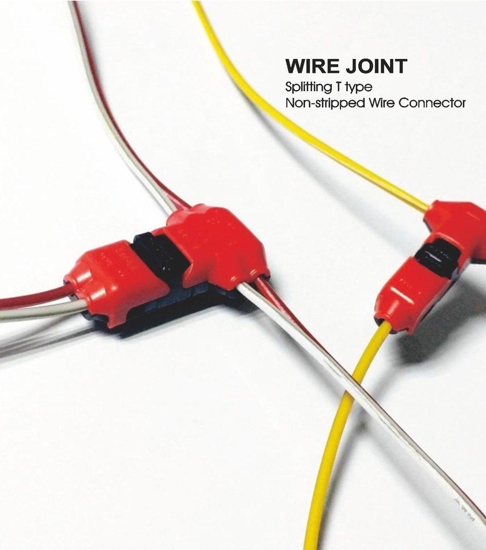 T Type 2pin Non-stripped Wire Connectors, Quick Splice Connectors ...