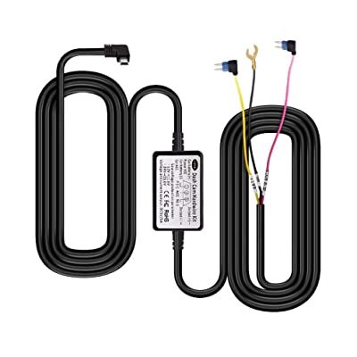 13 Feet Mirror Dash Cam Hardwire Kit, Mini USB Hard Wire Kit Fuse for dashcam,36V/3A to 5V/3A Car Dash Camera Charger Power Cord: Car Electronics