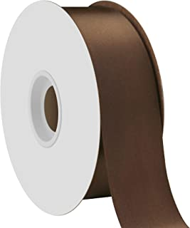 product image for Offray Single Face Satin Craft 1-1/2-Inch by 50-Yard Ribbon Spool, Brown