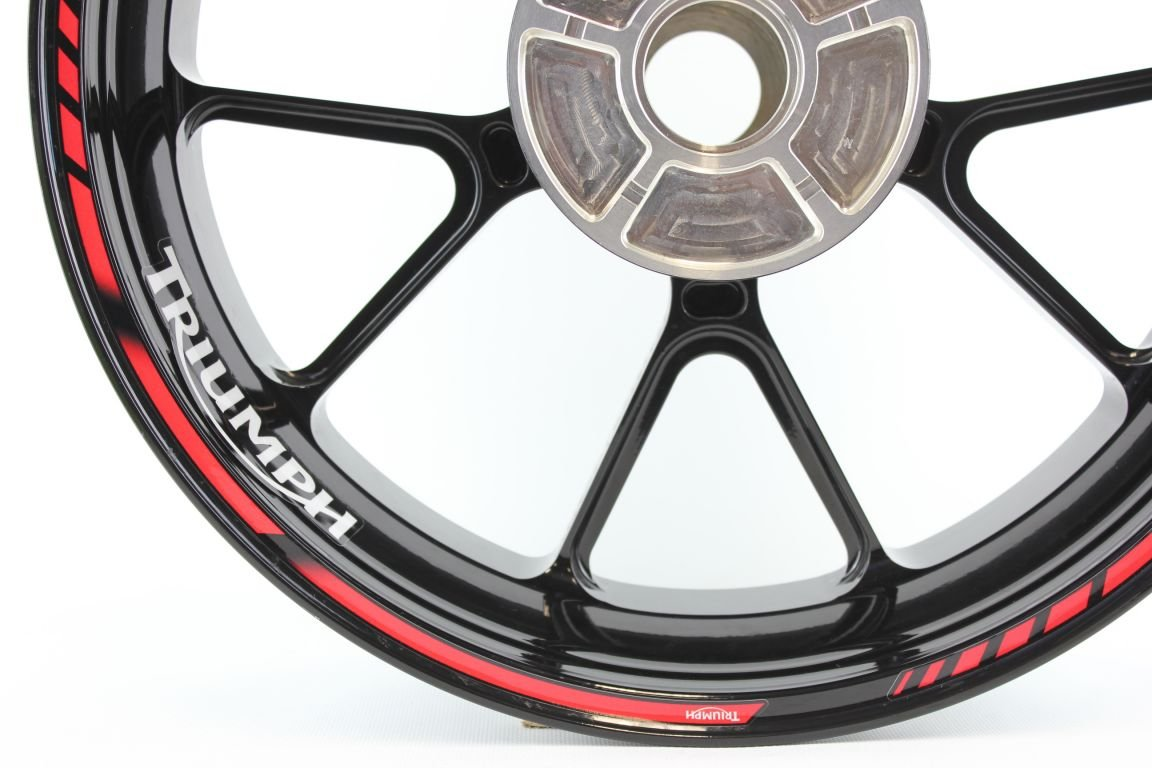 Liserets de Jantes SpecialGP Moto Triumph Rouge Autocollants