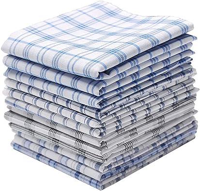 YaptheS 12pzas 100% hombres del algodón Pañuelos patrón de prueba de los pañuelos de bolsillo de la plaza de sudor del algodón puro toallitas de toallas Hermosas joyas: Amazon.es: Joyería