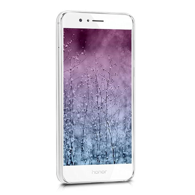 kwmobile Funda para Huawei Honor 8 / Honor 8 Premium - Carcasa de [TPU] para móvil y diseño de Sol hindú en [Azul/Rosa Fucsia/Transparente]