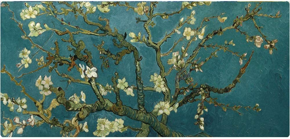 Design : 1 SeSDY Gaming Mouse Pad XXL900x400x3mm with Non-Slip Rubber Base Marble Starry Apricot Flower Van Gogh is Suitable for Computer Desktop Laptops