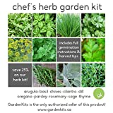 Chef's HERB GARDEN SEED KIT - 10 Seed Types *Save 25%* Arugula, Basil, Chives, Cilantro, Dill, Oregano, Parsley, Rosemary, Sage, Thyme *Fresh for 2018*