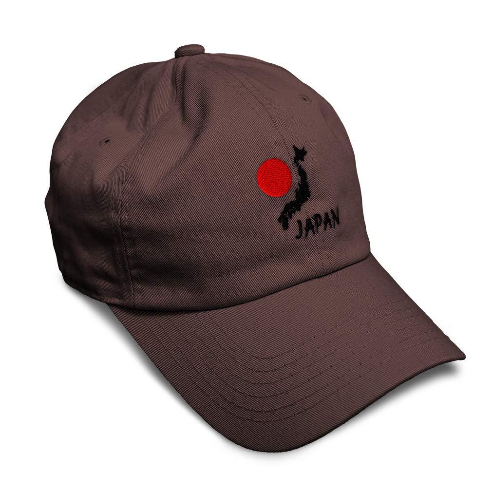 Custom Soft Baseball Cap Japan Map Embroidery Dad Hats for Men /& Women