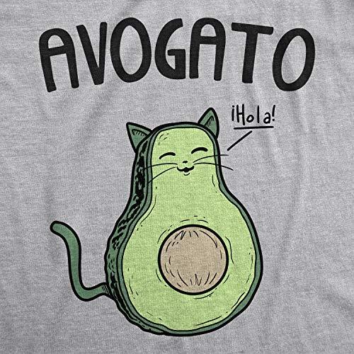 47c52720a Jual Womens Avogato Funny T Shirt Avocado Cat Cute Cat Face Novelty ...