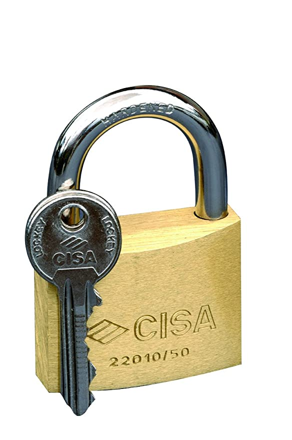 CISA Italian Lock - Solid Brass Padlock 30mm / Candado Arco de Laton 30mm - - Amazon.com