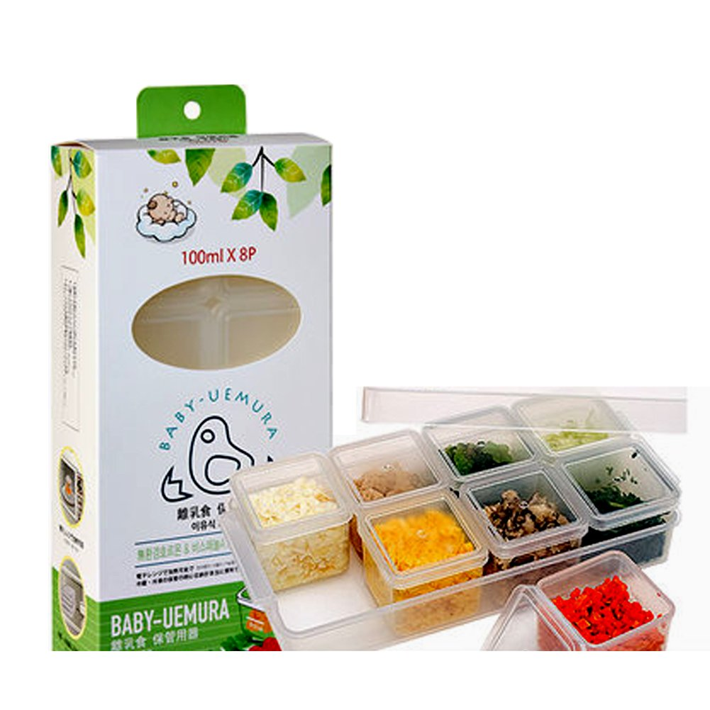 BABY UEMURA baby food storage containers- 100ml Cube case