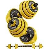 Bibowa Adjustable Dumbbells Barbell Weights,Free Weights Dumbbells for Men Women Strength Training Home Gym Office Workout