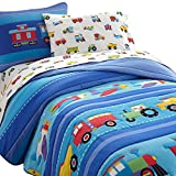 Olive Kids Trains, Planes, Trucks Light Weight Full Comforter Set
