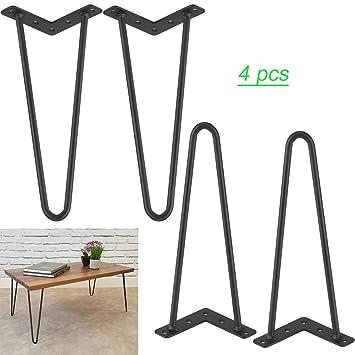 Hairpin Black Iron Furniture Legs Modern Style 4pcs Table Legs 28inch