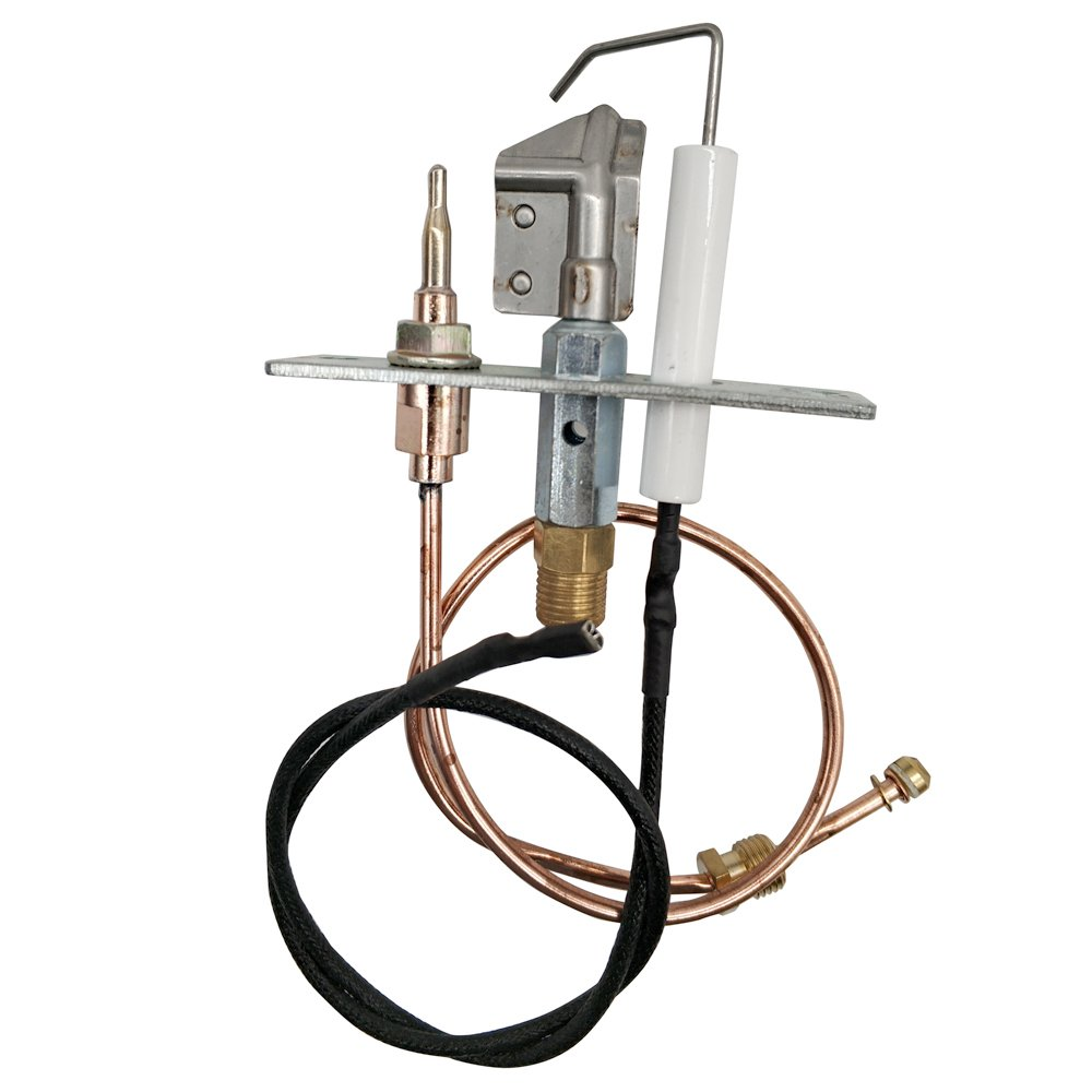 MENSI Safety Pilot Burner kit for Fireplace or Gas Water Heater with thermocouple 300mm and Wire 400mm by MENSI
