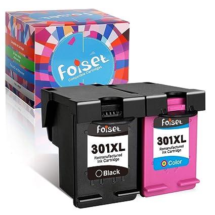Foiset Remanufacturado Cartucho de Tinta 301XL Reemplazo para HP 301XL 301 XL Compatible con HP Deskjet 1510 2540 3050 3050A Officejet 2620 4630 Envy ...