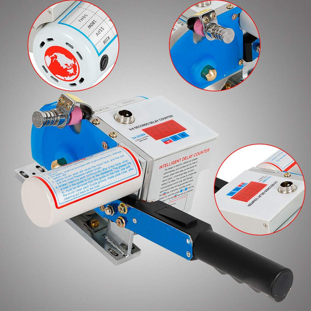 Fabric Cloth Cutter, TBVECHI Electric Fabric Rotary Cloth Leather Cutter Blue 4.5'' Cutting Machine Scissors Auto Sharpening Wool Auto Grind