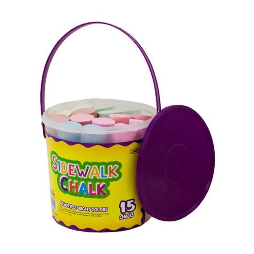 BAZIC Jumbo Color Chalk (15/Bucket), Case Pack of 24