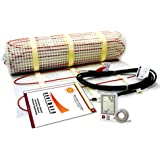 60 Sqft Electric Floor Heating System with Required GFCI Programmable Thermostat, 240V