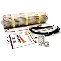 10 Sqft Electric Floor Heating System with Required GFCI Programmable Floor Thermostat 120V