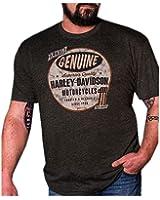 Harley-Davidson Men's Genuine Equipped Short Sleeve T-Shirt, Vintage Black