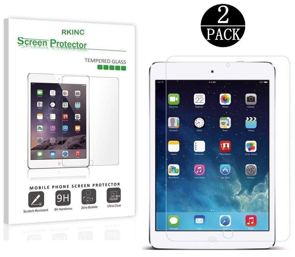 [2-Pack ] For iPad 9.7' 2017/iPad Pro 9.7 inch/iPad Air/iPad Air 2 Screen Protector Glass, RKINC 0.33m 2.5D Round Edge Tempered Glass Screen Protector for Apple iPad Air 2, Air, Pro 9.7 inch 2016 4328650042