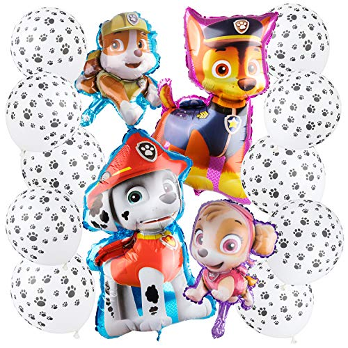 (Paw Patrol Party Supplies - Birthday Paw Patrol Balloons - Dog Theme Decorations)