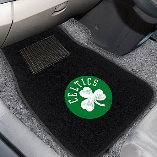Fanmats 17611 NBA Boston Celtics 2-Piece Embroidered Car ()