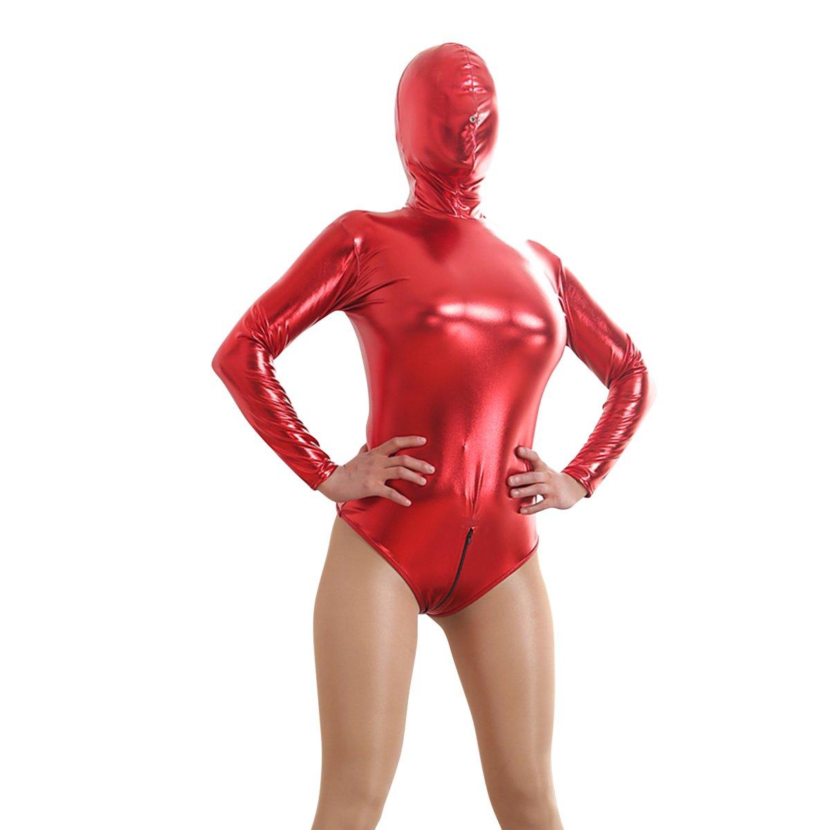 IBTOM CASTLE Women Catsuit Bodysuit Shiny Bodycon Clubwear Costume Cosplay
