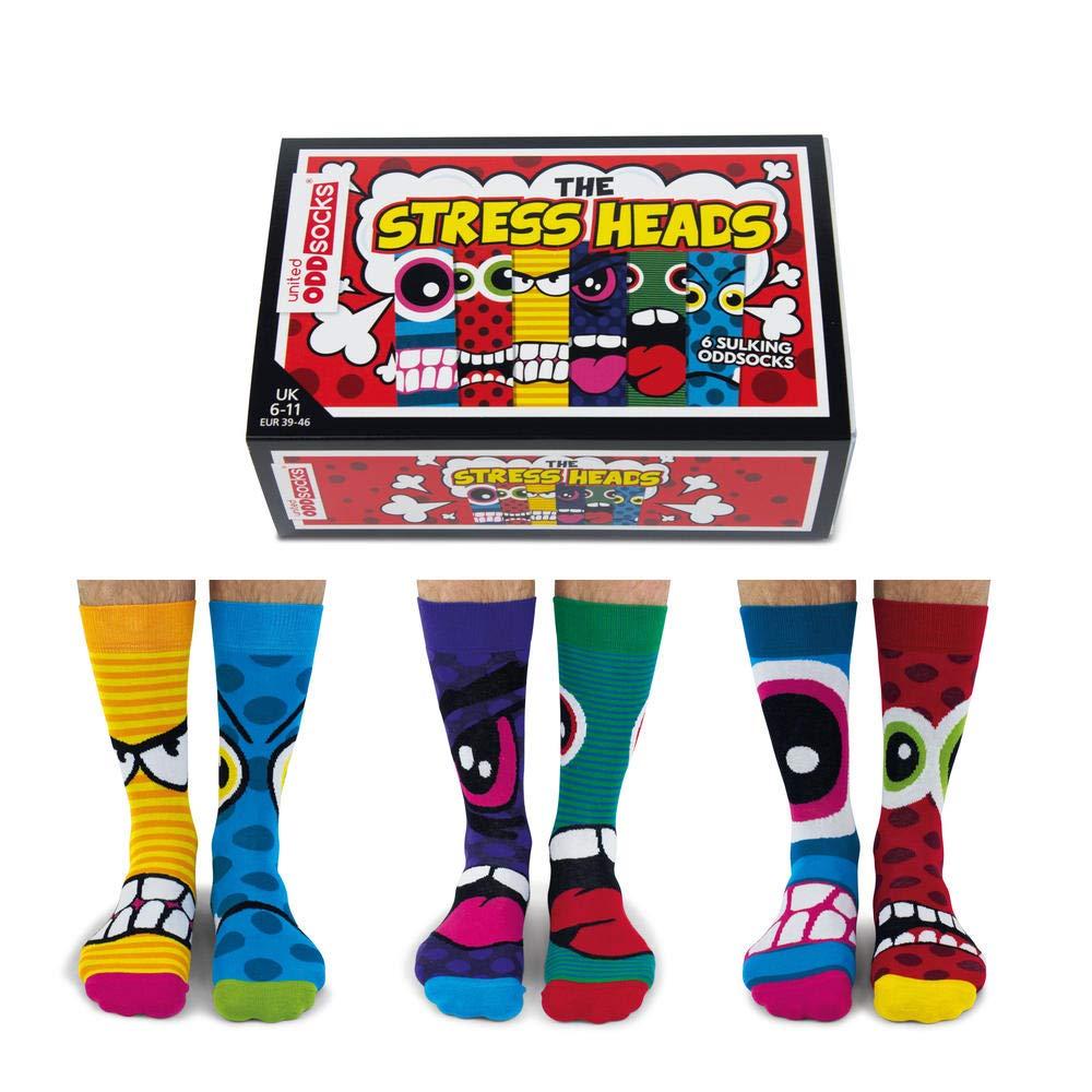 Stress Kopf Oddsocks Strumpf trendaffe Stress Heads Oddsocks Socken in 39-46 im 6er Set