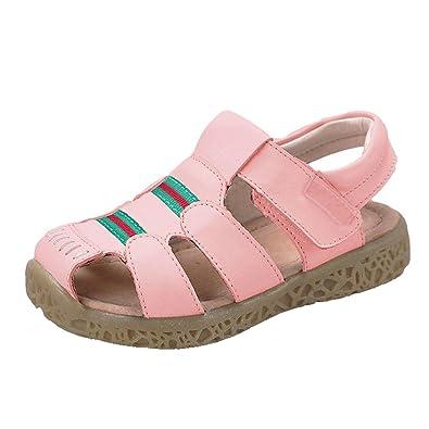 d6d9bf9922cf4 GAXmi Sandales Cuir Garçon Chaussures D Été Bout Fermé pour Bébé Enfant  Fille