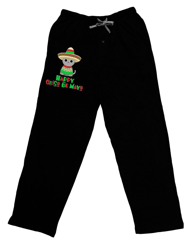 Black TOOLOUD Happy Cinco de Mayo Cat Adult Lounge Pants
