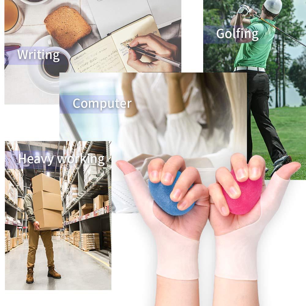 Release Pressure , Skin Medium Relieve Achilles Tendinitis 7.0〃- 8.7〃 Prevent Pain or Numbness Wrist Brace Gel Wrist Compression Sleeves Carpal Tunnel Splint for Men and Women