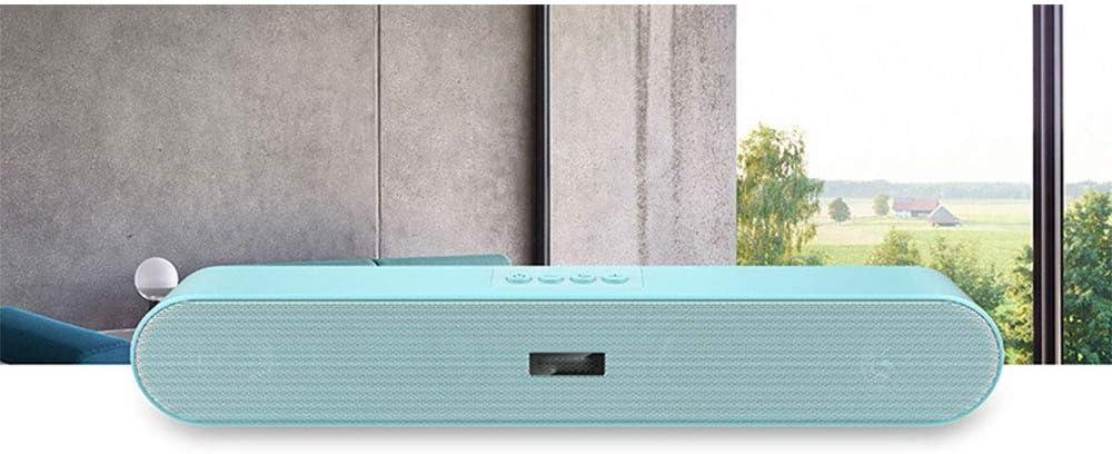 Wealth Altavoz de Barra de Sonido Bluetooth, Audio de Cine en casa con Cable e inalámbrico para teléfono Celular/hogar/proyector/TV/Modo FM/Aire Libre (sin Control Remoto),Azul: Amazon.es: Hogar