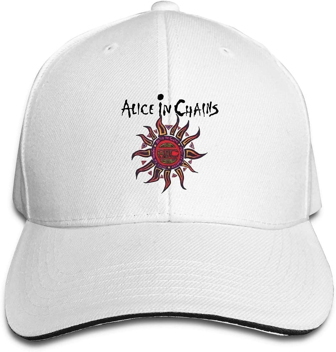 Cotton Sun Hat Flat Cap Stylish Alice in Chains Cap and Baseball Cap