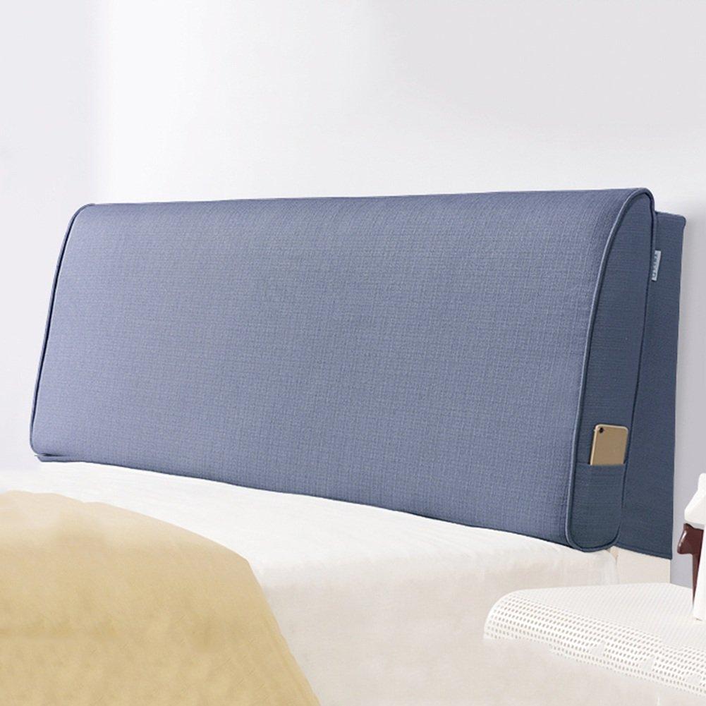 QiangDa Capezzale Cuscino Dello Schienale Cuscino Morbido Sul Comodino Resistente All'usura Staccabile E Lavabile Per Il Doppio Camera Da Letto 9 Colori A Tinta Unita, 4 Dimensioni Opzionale ( Colore : Azure blue , dimensioni : 120 x 10 x 60cm )