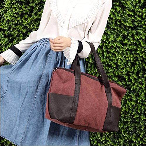 Shoulder bag female 14 canvas capacity Large bag CJ portable TqvdOwO