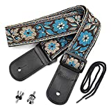 CloudMusic Colorful Style 100% Cotton Ukulele Strap (Brown)