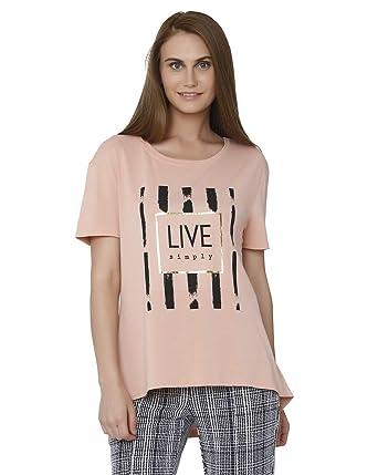 3f3bda5024f4 VERO MODA Women Casual T-Shirt  Amazon.in  Clothing   Accessories