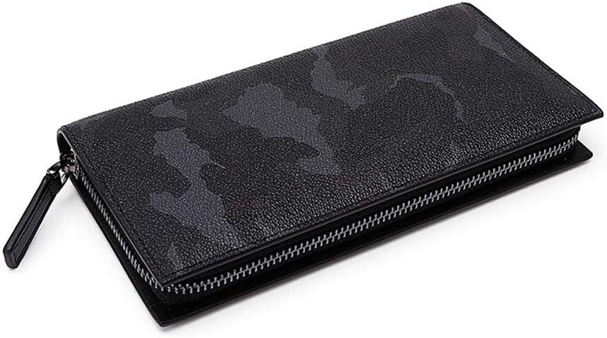 YONGMEI Wallet Mens Wallet Wallet Mens Business Card Holder Black Backpack Color : Black