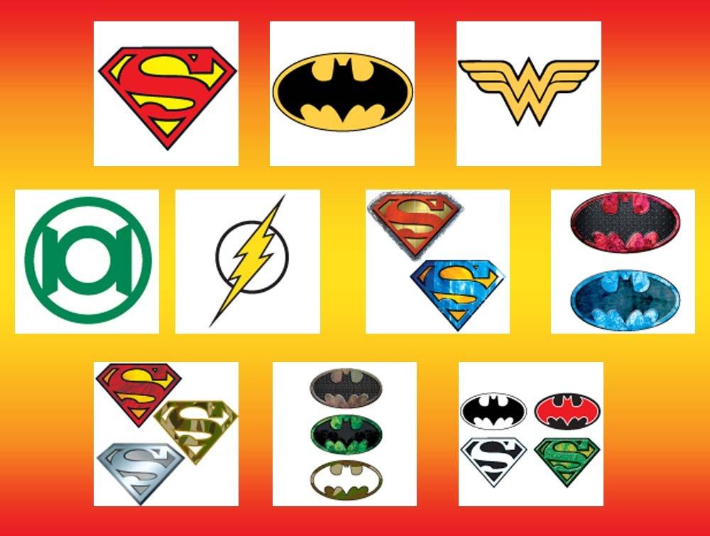 Amazon Dc Comics Logo Temporary Tattoos Set Of 10 Sheets