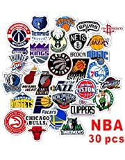 Homyu Stickers Pack 30-Pcs Decals of NBA Team Stickers Basketball Team Logo for Laptops Cars Motorcycle Portable Luggages Ipad Waterproof Sunlight-Proof